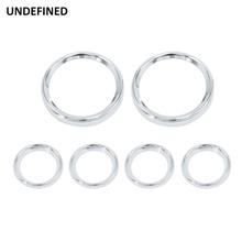 Motorcycle Speedometer Trim Ring Chrome Gauge Bezels Cover Kits For Harley Touring Road Glide Electra Street Glide Tri 1996-2013