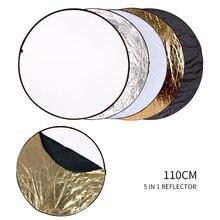"""SH 43.3 """"(110 ซม.) 5 in 1 Multi Disc DiffuersรอบReflectorแบบพกพาพับสำหรับถ่ายภาพสตูดิโอ"""