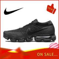 Оригинальный Nike Оригинальные кроссовки Air VaporMax быть правдой Flyknit Для мужчин бега уличная спортивная обувь на толстой подошве Классическая д...