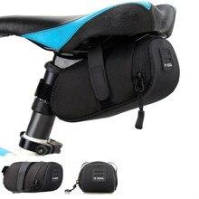 Nylon Bicycle Bag Bike Waterproof Storage Saddle Bag Seat Cycling Tail Rear Pouch Bag