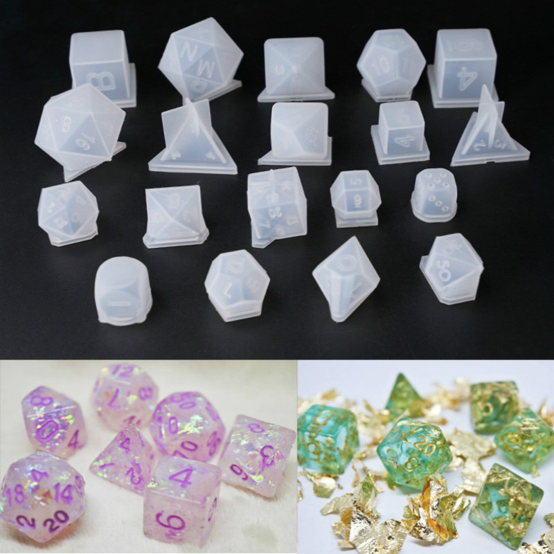 3D Dice Beads Molds UV Resin Many Kinds DIY Kawaii Epoxy Resin Art Supplies Silicone Molds For Resin