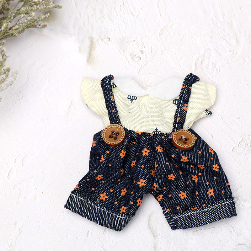 Doll Clothes For 16cm 1/12 BJD Doll Fashion Overalls Printing Dress Girls Dress Up DIY Toy Gift Dolls Accessories