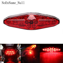 Red 15 LED Motorcycle ATV Tail Light Bike Brake Stop Rear Lamp 12V Universal Accessories