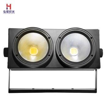 LED パーライト COB 2 × 100 ワットハイパワーアルミ DJ DMX Led ビーム洗浄ストロボ効果舞台照明、クールホワイトとウォームホワイト