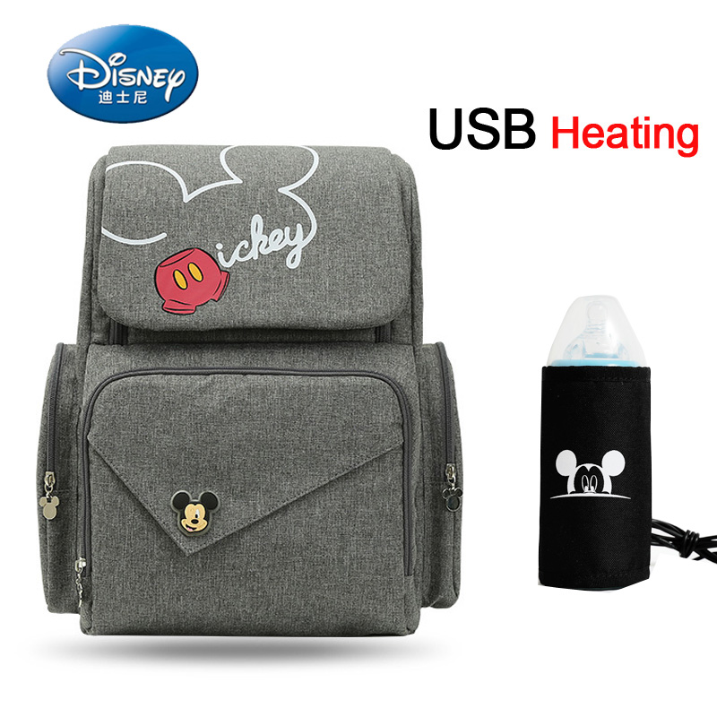 Disney Bottle Feeding Insulation Mummy Bag Oxford Cloth Diaper Storage Bag Backpack Fashion Waterproof Large Capacity