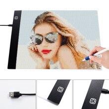 HUACAN Pittura Diamante A4 A5 HA CONDOTTO LA Luce Tablet Pad Accessori Tre Livello Dimmable Ultrasottile