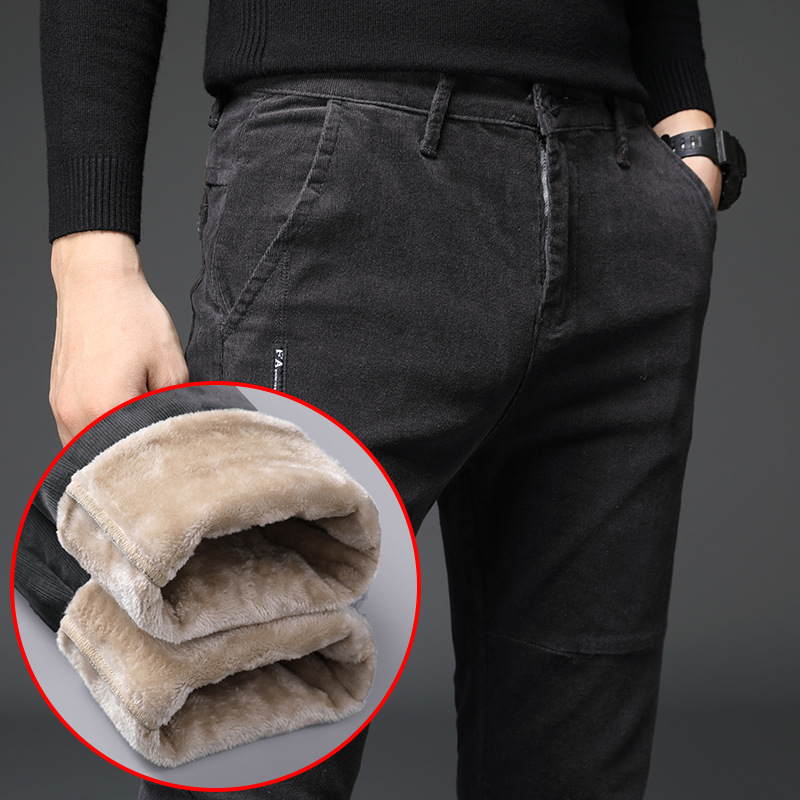 Winter Corduroy Brushed And Thick Casual Pants Men's Korean-style Youth Pencil Pants Hot Selling MEN'S Trousers Special Offer