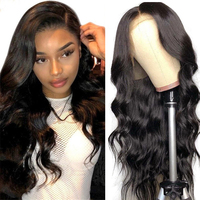 Peruvian Body Wave Wig Lace Front Human Hair Wigs For Women Pre Plucked hairline With Baby remy Hair 13*4 Lace Wig with eyelash