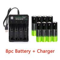 Batería recargable de 3,7 V, 18650, 9900mAh, 2/4/8 Uds., con 4 ranuras, Cargador USB de 3,7 V 18650