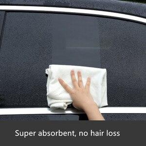 Image 3 - Serviette de lavage de voiture en cuir Chamois 60x90CM, Super absorbante, verre de maison, chiffon de nettoyage de cuisine à séchage rapide