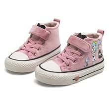 ילדי כותנה נעלי 2020 חדש חורף בנות קטיפה נסיכת נעלי Cartoon ילדים סניקרס חמוד סטודנטים זמש מגפי בנות טניס