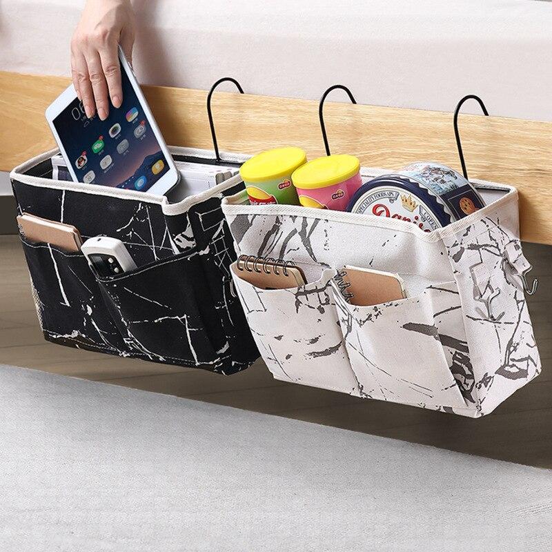 Bedside Storage Bag Hanging Organizer Multi-Pocket Holder Dormitory Bed Bunk Hospital Bed Rails Storage Bag Organizer