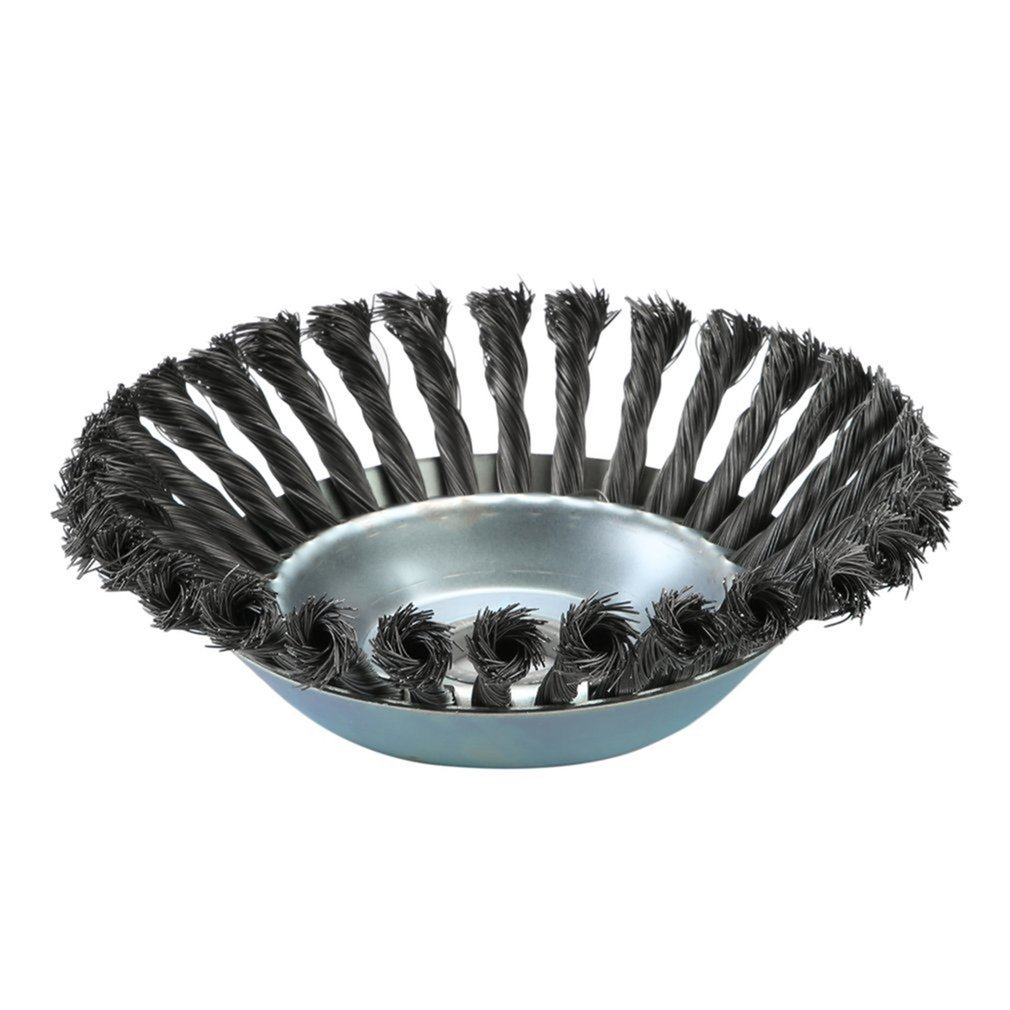 Weed Brush Rotary Joint Twist Knot Steel Wire Wheel Brush Disc 160X25Mm Landscaping Cutting Irrigation