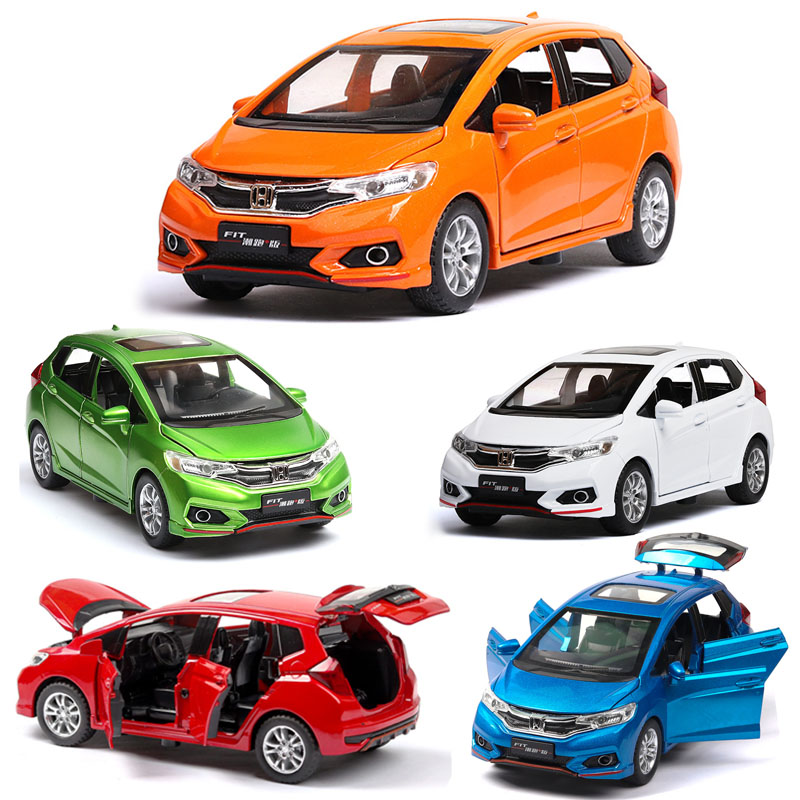 1:32 Honda Fit Metal Toy Alloy Car Die Cast Toy Car Model Car Pull Back Children Toy Collectible Gift Free Shipping