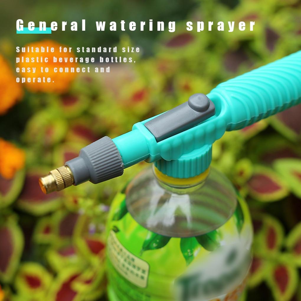 Household High Pressure Air Pump Manual Sprayer Adjustable Drink Bottle Spray Head Nozzle Garden Watering Tool