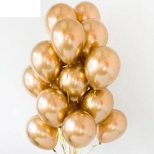 Image 4 - 10pcs Metal Pearl Latex Balloons Birthday Party Decoration Kids Wedding Baby Shower DIY Bachelorette Table Supplies Boy Girl