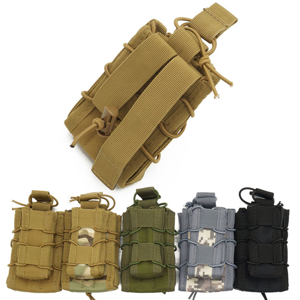 Military Molle Pouch Waist Bag Molle Two-in-one Accessory Package Multifunction Casual Men Fanny Waist Pack Small Hunting Bag