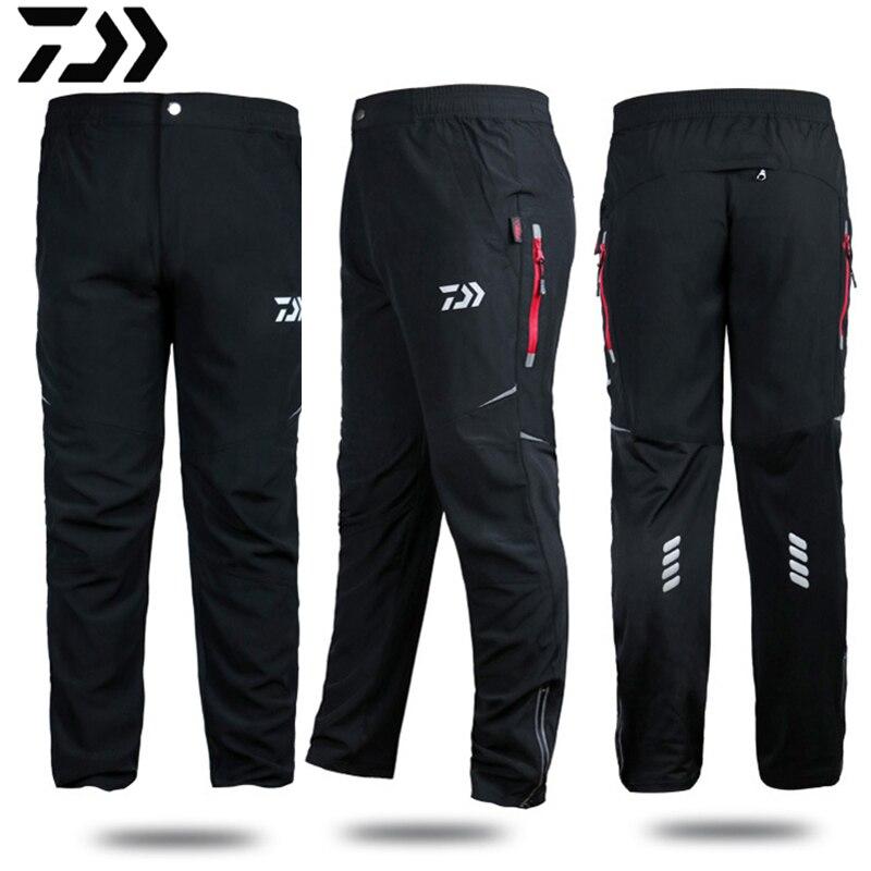 Daiwa Clothing Fishing Pants Quick Dry Breathable Anti-static Outdoor Fishing Men Loose Anti-UV Plus Size Windproof Pants