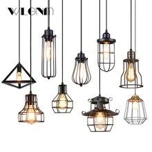 Luces colgantes Vintage industriales, lámpara colgante de interior, luminaria de suspensión, Simple barata, decoración de cafetería y restaurante de tienda casera