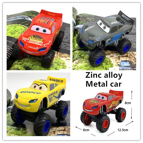 Cars Story Lightning McQueen Pull Back Car Alloy Toy Model Big Foot Off-road Boys Toys For Children