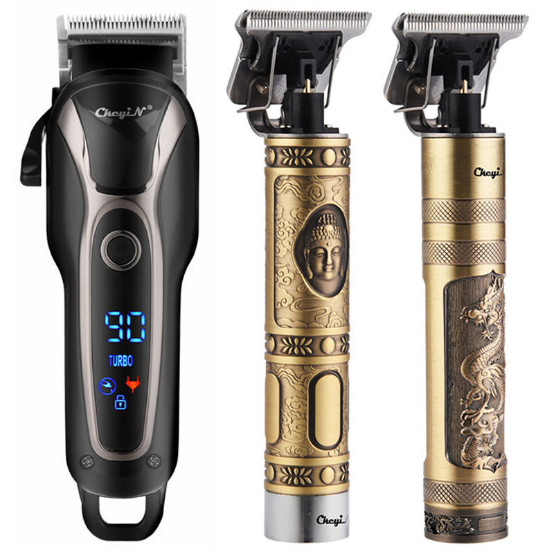 Professional Hair Clipper Men's Electric Hair Trimmer Rechargeable  Hair Cutter Machine 0mm Shaving Barber Hair Styling Tool 51