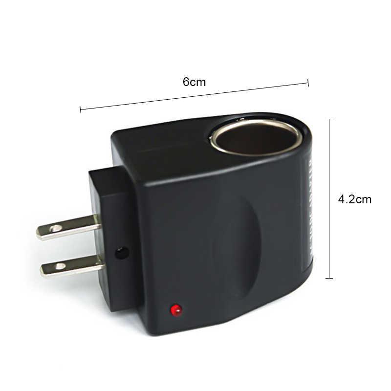 Isqueiro do carro eua/ue automóvel cigarro isqueiro conversão plug 220 v a 12 v portátil adaptador de isqueiro do cigarro do carro rápido