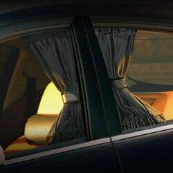 2 Stuks Universele Zonnescherm Auto Gordijn Auto Side Window Zonnescherm Gordijnen Auto-Styling Auto Windows Gordijn Zonneklep Jaloezieën cover