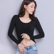 MRMT 2020 Brand New Womens Cotton T-shirt Long Sleeved Pure Color Women T shirt Casual Tee Woman T-shirt For Female Clothing