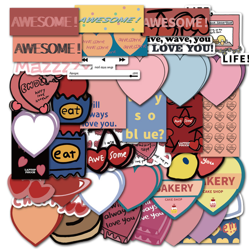44PCS Love Mazzzzy Graffiti Stickers World Peace For Car Styling Bike Phone Laptop Travel Luggage DIY car Decals Sticker