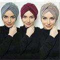 Однотонные платок для женщин мусульманский хиджаб из джерси кепки женский тюрбан Африка обруч плат капот Исламской аксессуары