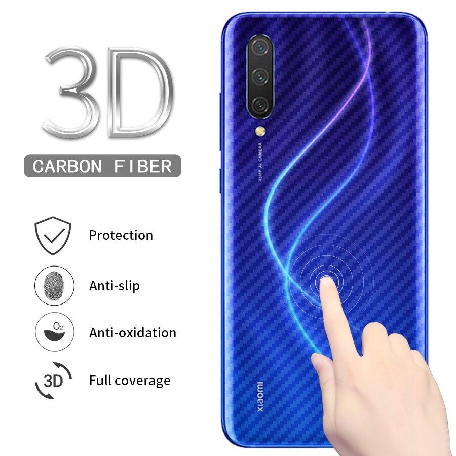 5Pcs 3D Carbon Fiber Cover Sticker Back Screen Protector For Xiaomi Mi A3 CC9 CC9e 9T Pro A2 Llite Redmi K20 Note 7 8 Pro 8T