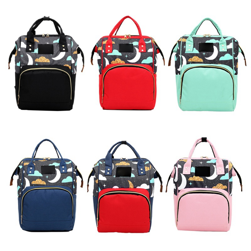 New Fashion Mummy Maternity Nappy Bag Large Capacity Waterproof Backpack Multi-function Backpack Nursing Bag For Baby Care N