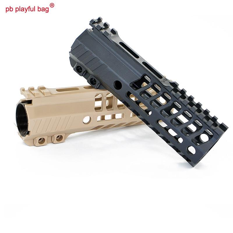 PB PlayfuOutdoor Fun Toy JingJi SLR Nylon Fishbone Handguard 5.5 Inch 6.7 Inch Handguard Rail Water Bomber Modified Fitting OD64