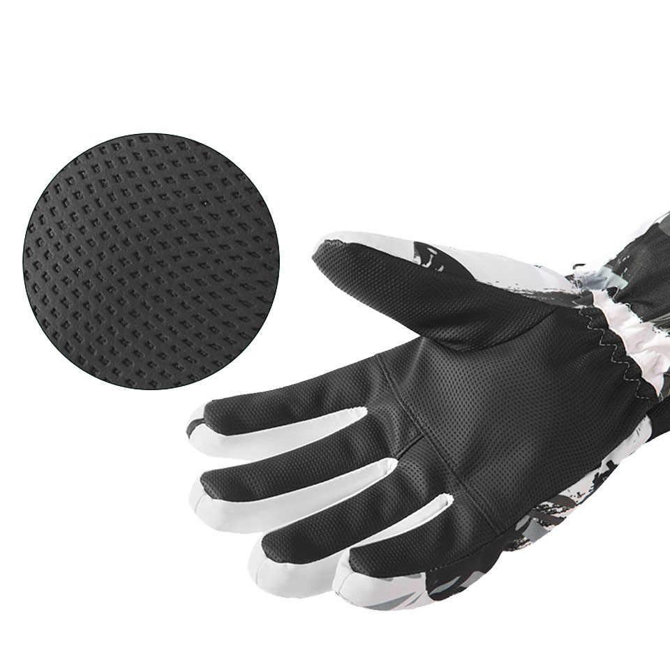 Зимние мужские сверхлегкие лыжные перчатки флисовые теплые женские детские перчатки для сноуборда водонепроницаемые мотоциклетные термоперчатки для снега