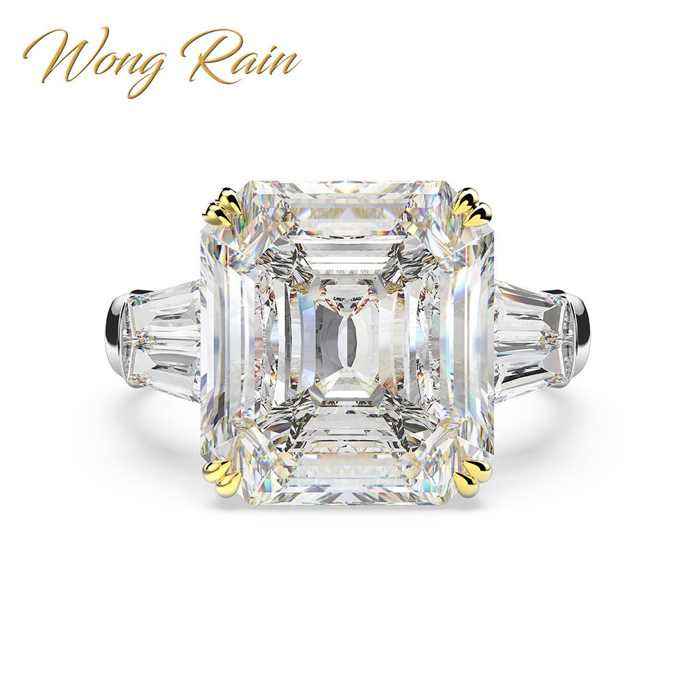 Wong Rain 100% 925 Sterling Silver Created Moissanite Sapphire Citrine Wedding Engagement Cocktail Couple Ring Jewelry Size 5-12