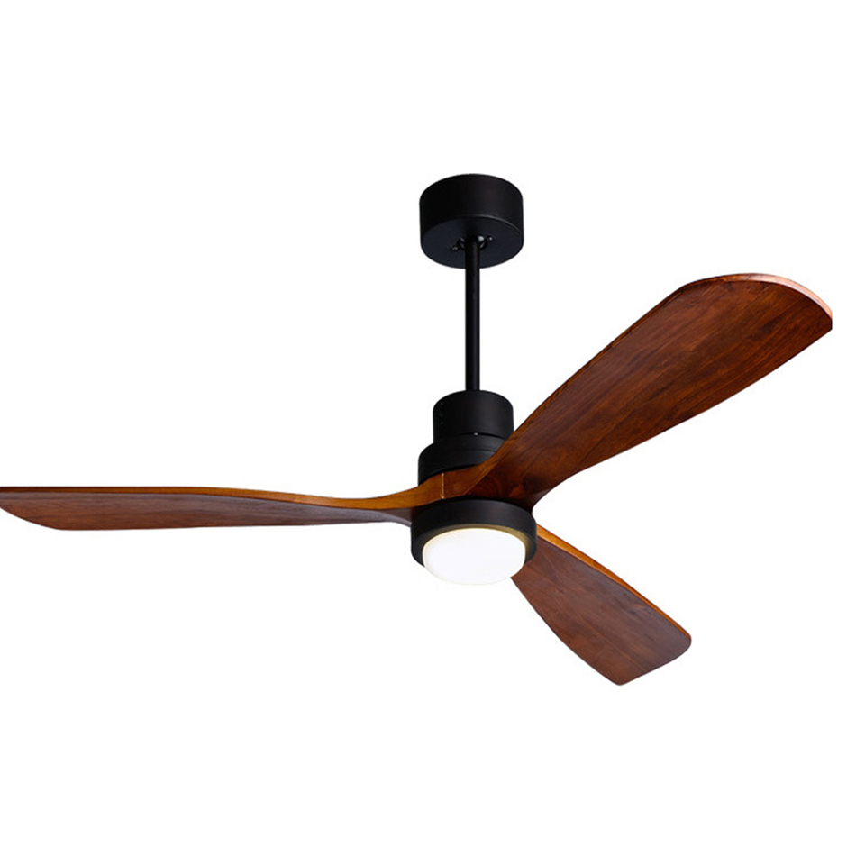 Modern Ceiling Fan Lamp Solid Wood Blades Silent Ceiling Fan With Led Light And Remote Control Ac110 240v Ceiling Fans Aliexpress