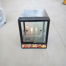 Conical pizza insulation cabinet cooked food display cabinet long-lasting insulation right angle glass display