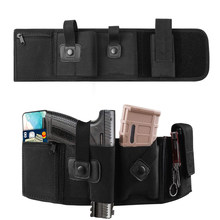 Tactical Concealed Gun Holster Breathable Belly Band Pistol Carrier Pouch Military Waistband Rifle Bag with Magazine Pouch