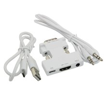 New Arrival Female HDMI To Male VGA Audio Adapter HDMI HD Cable Converter Adapter For Computer Laptop Desktop аксессуар palmexx hdmi vga px hdmi vga