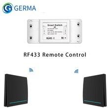433Mhz Wireless Smart Switch RF Fernbedienung Empfänger Push Button Controller Wand Panel Sender, 2 weg/3 weg Multi-Control