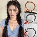Ободок для волос Ruoshui Женский, нескользящий обруч с двумя зажимами, аксессуар на голову