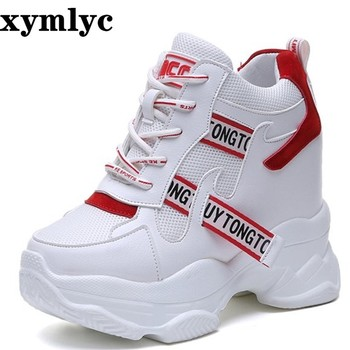 босоножки sweet shoes sweet shoes sw010awesyy8 2020 spring autumn fashion platform shoes with buckle casual sweet sports shoes shallow mouth Femmes Height Increase Shoes White