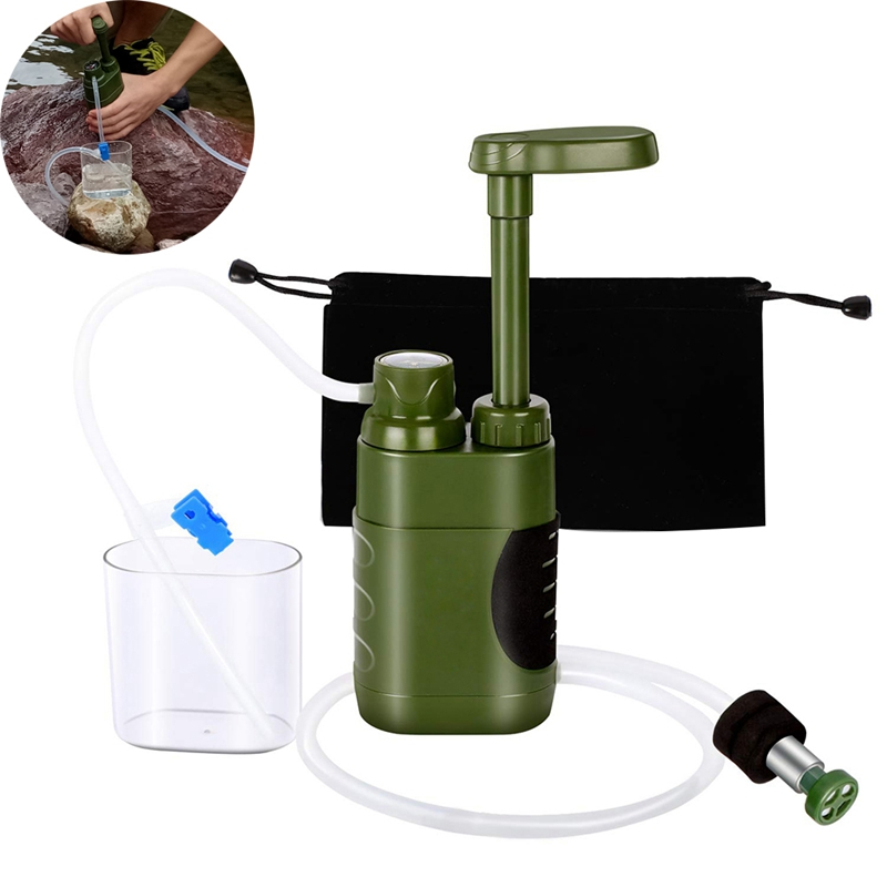 ABUO-Outdoor Water Purifier Set Straw Water Filtration System Water Filter Hiking Emergency Tools Outdoor Camping Equipment