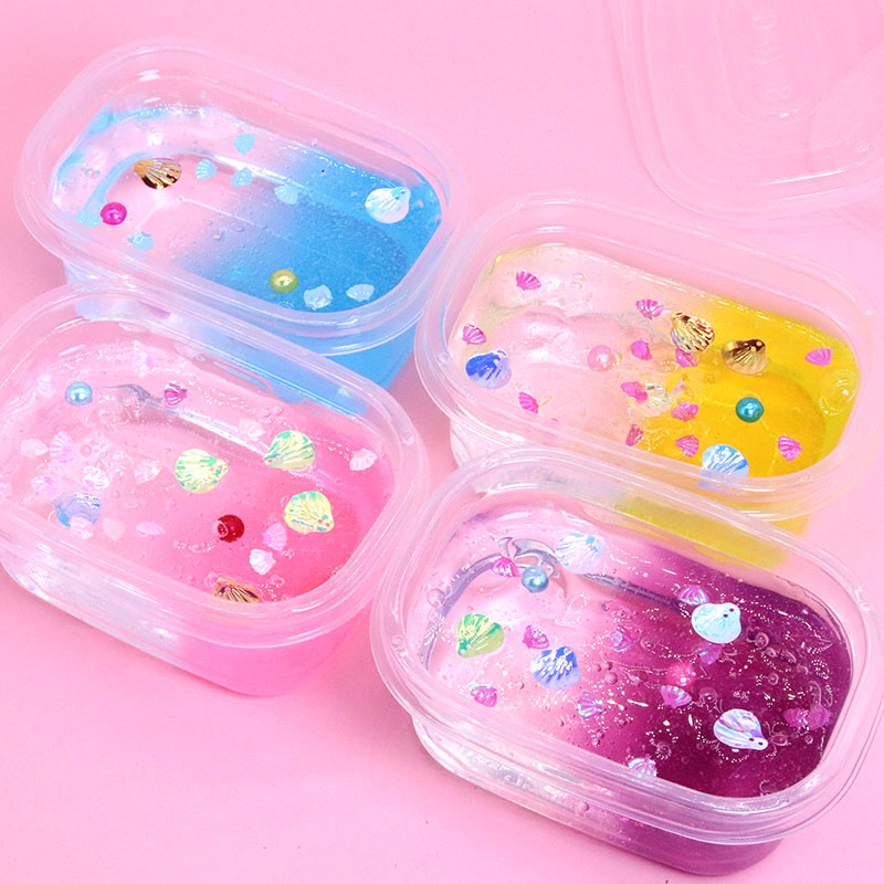 2019 Transparent Foaming Fluffy Slime Toys Playdough Super Light Clay Crystal Glue Fluffy Putty Cloud Slime Plasticine Supplies