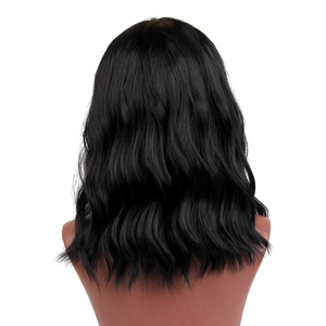 Image 2 - ALAN EATON Short Curly BOB Wigs Womens Black Wigs Female Synthetic Heat Resistant Fiber African American Wigs Cosplay Lady