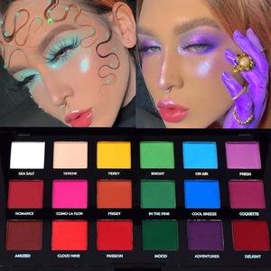 matte bright color eyeshadow palette smoky color waterproof long-lasting makeup palette gloss eye shadow palette cosmetics