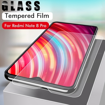 100PCS Tempered Glass Phone Cover for Xiaomi Redmi Note 8 Pro on for Redmi Note 8 Protective Glass Phone  Front Film