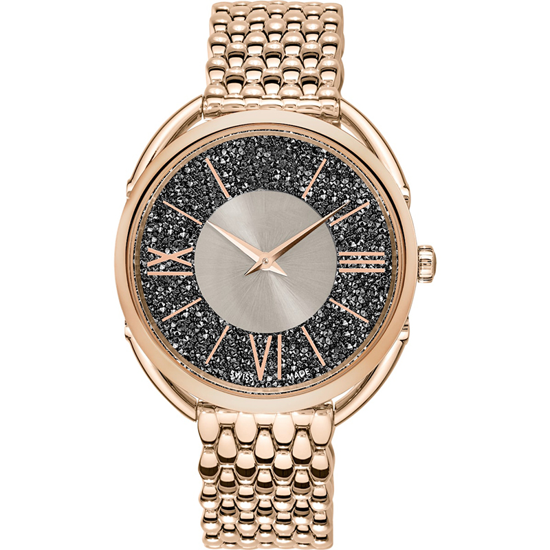 Original SWA New Crystalline Glam Series Crystal Champagne Grey Dial Watch Men And Women Couples Elegant Luxury Watch Gifts