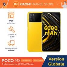 Xiaomi-teléfono inteligente POCO M3, versión Global, 4GB, 64GB/128GB, Snapdragon 662, pantalla de 6,53 pulgadas, Triple cámara de 48MP, desbloqueo facial por inteligencia artificial, 6000mAh