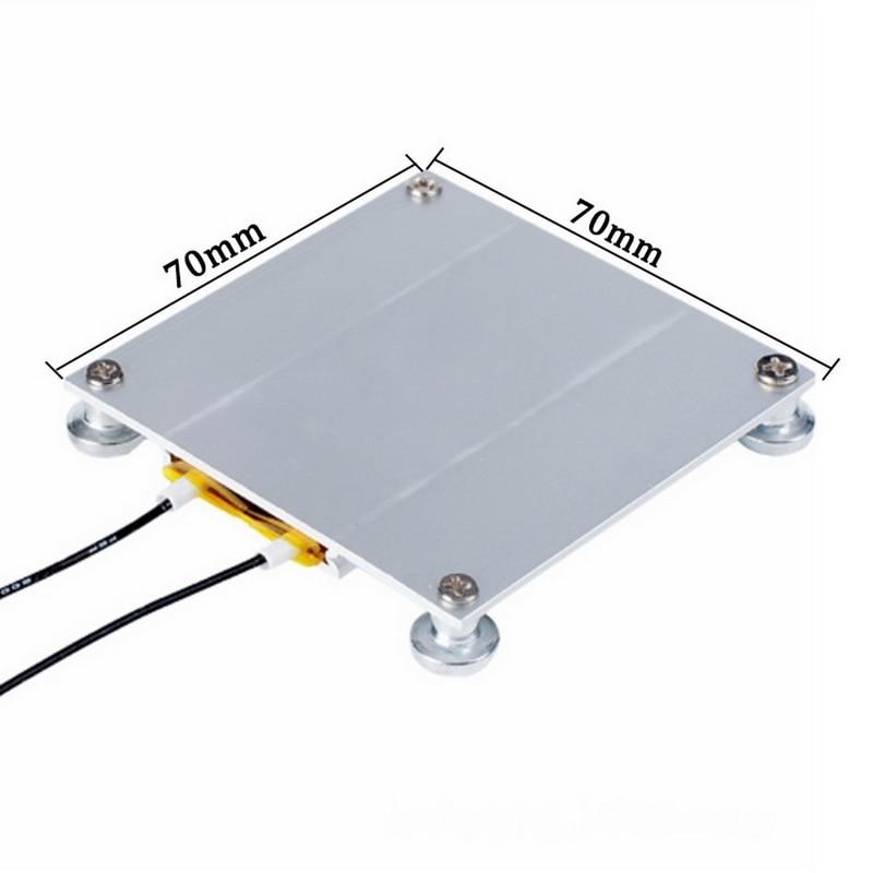 70*70mm LED מנורת מסיר BGA שבב הריסת ריתוך הלחמה תחנת אלומיניום PTC IP20 צלחת חימום 300W 260 תואר